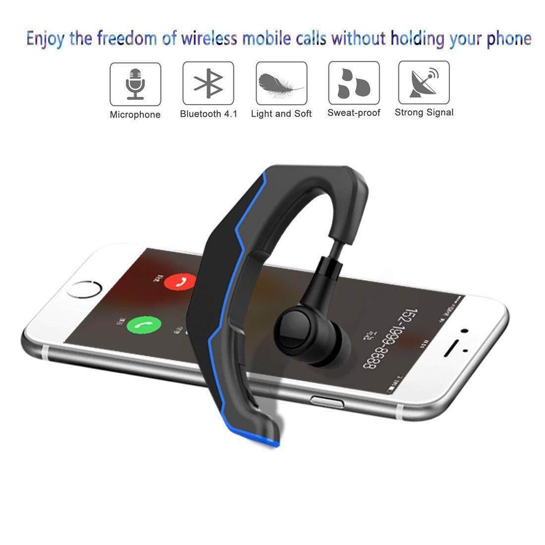 Bluetooth Earpiece Handsfree In Ear Headset Comfortable Lightweight (Grey/Black) 2 Year Warranty