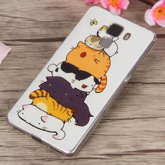 3D Relief TPU Soft Phone Case for Huawei Honor 7 (Multicolor) - intl
