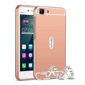 BYT Electroplated Metal Bumper Mirror Back Cover Case for Vivo Y27