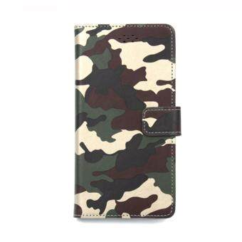 Camouflage Phone Bag Wallet Skin Case for BBK VIVO Y37 Case PU Leather + Soft Silicone
