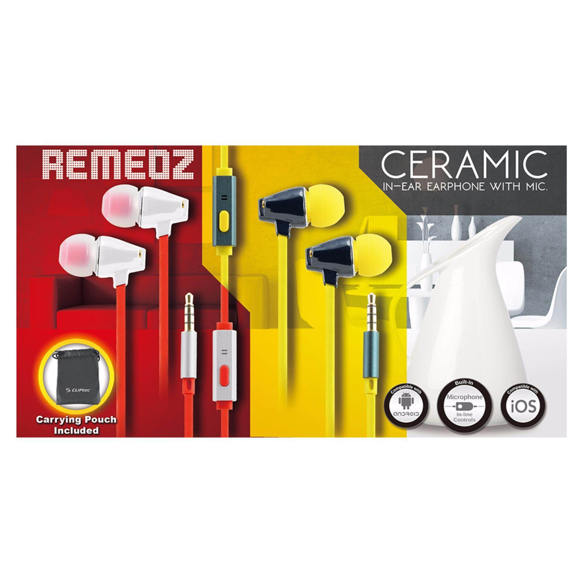 CLiPtec BME701 Ceramic In-Ear Earphone With Microphone 'Remeoz'