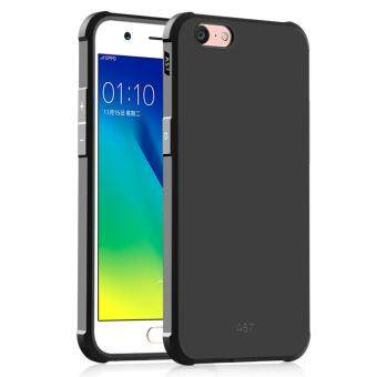 COCASE Solid color Silicone phone case for OPPO A39/A57(Black)