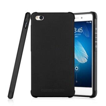 COCOSE Silicone Soft Rubber Slim Back Case for Xiaomi Redmi 4A(Black) - intl