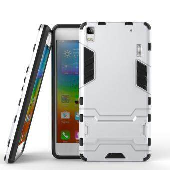 Cool Guard PC TPU Hybrid Phone Case with Kickstand for Lenovo A7000 / A7000 Plus/