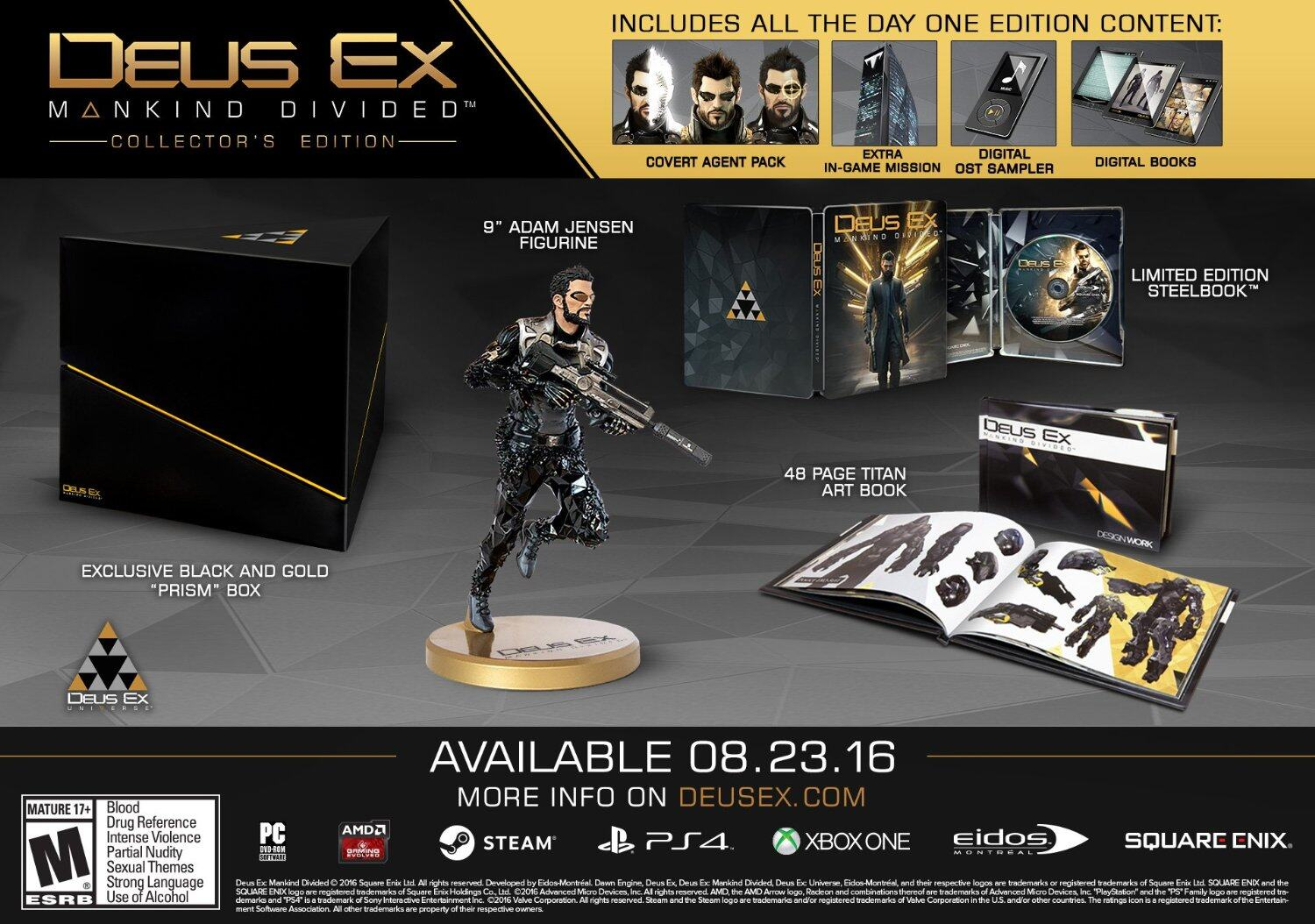Deus Ex Mankind DIvided Collector's Edition - Playstation 4