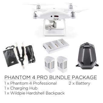 Harga DJI Phantom 4 PRO + 2 Batteries + DJI Lanyard + Charging Hub +Wildpie Backpack (Official DJI Malaysia Warranty)