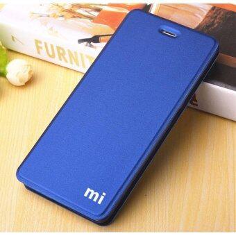 Flip Cover Leather Case For Xiaomi Redmi 4A (Dark Blue)