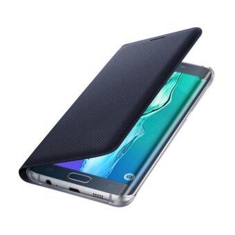 Flip Wallet Cover Case for Samsung Galaxy C9 Pro (Black)
