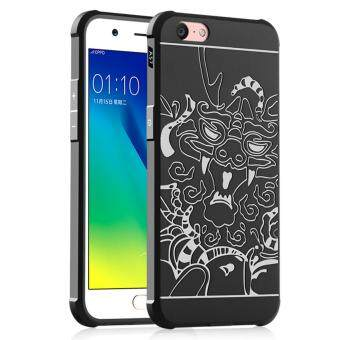 For OPPO A57/A39 Case Luxury 3D Carved Dragon Anti-Shock Soft Silicone Protective