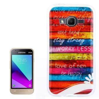 For Samsung Galaxy J1 Mini Prime SM J106 Colour Blocks Pattern TPU Back Case