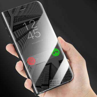 For Samsung Galaxy S8 APP Intellgent Auto Sleep Clear View Flip Phone Cases Electroplating Mirror Full