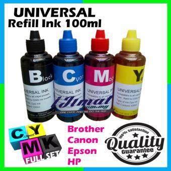 Full Set of UNIVERSAL Printer Refill Ink / Dye Ink Bottle BLACK + CYAN + MAGENTA