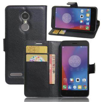Fundas Coque For Lenovo K6 K6 Power Case 5.0 inch Luxury PU Leather Back Cover Case