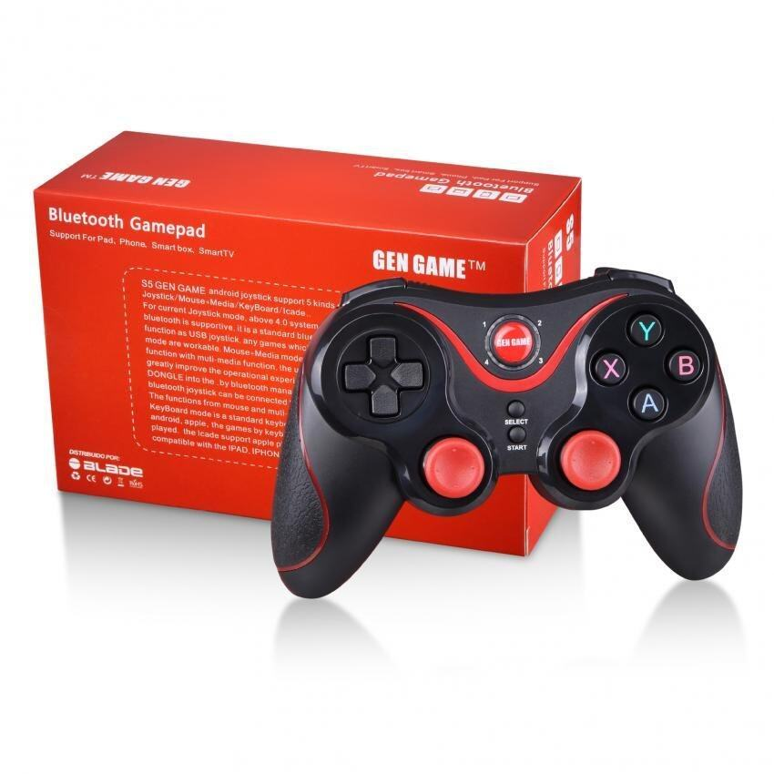 GEN GAME S5 Wireless Bluetooth Game Console Handle Controller Gamepad Joystick For Android Phone (Samsung, Oppo, Sony, Huawei, Vivo, Asus, ETC) Tablet, iPad, PC With Phone Holder