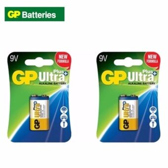 Harga GP Batteries Ultra Plus Alkaline 9V Battery 2 Cards Expire 07/2022?Twin Pack?