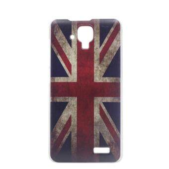 Great Britain Clear Edge Hard Plastic Painting Back Cover Case For Lenovo A536