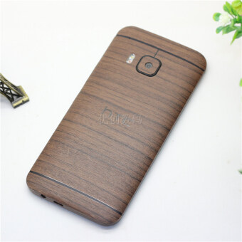 Harga Htc one M7 M8 M9 M9+ plus mobile phone shell stickers wood front and rear stickers body film color film