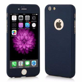 Harga I Tech 360 Degree Full Body Protection Cover Show Logo Case WithTempered Glass For iPhone 5/5S/5SE (Blue)