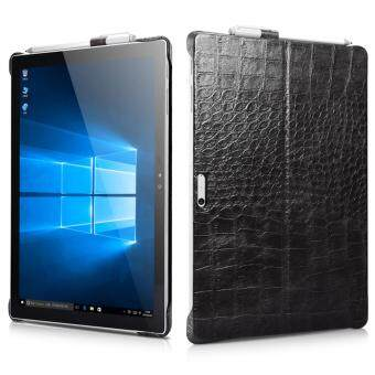 Harga Icarer Ultra-Thin Lightweight Embossed Crocodile Classical GenuineLeather Protective Back Case Cover for Microsoft Surface Pro 4(12.3 Inch)