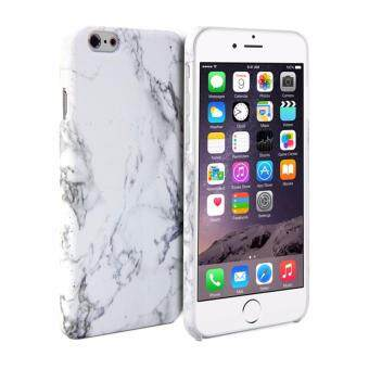 Harga LYBALL White Print Crystal Marble Pattern Hard Case Cover for iPhone 7 Plus 5.5 (White)