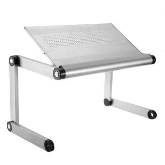 Harga OMAX K6 Adjustable Height Laptop Desk Notebook Table with Vented Stand (White)