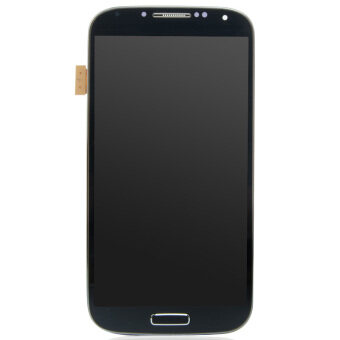 Harga LCD Display Screen Touch Digitizer +Frame For Samsung Galaxy S4 i9500(Blue)-