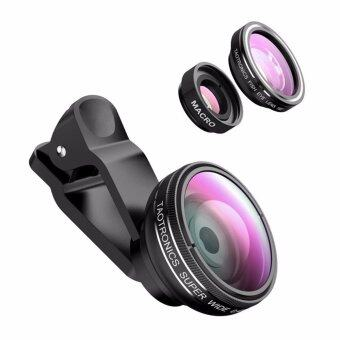 Harga Fisheye Lens, Lencent 3 in 1 Clip-On Cell Phone Lens, 180 Degree Supreme Fisheye Lens + 10X Macro Lens + 0.67X Wide Angle Lens, Professional HD Camera Lens for Samsung, iPhone 7/ 7 Plus/ 6/ 6s Plus/ SE, LG, HTC, Huawei, and Other Smartphones / Tablets
