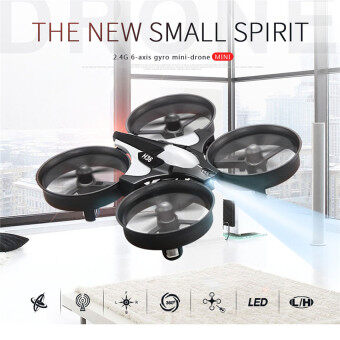 Harga The Best Quality New Small Spirit 2.4G 6 Axis Gyro Mini Drone(Grey)