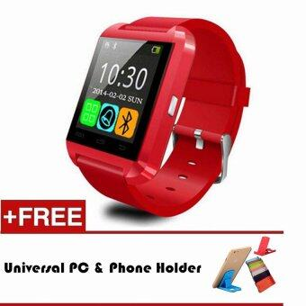 Harga U8 Smart Watch Bluetooth Wrist Watch for iOS Android PK DZ09 GT08(Red)