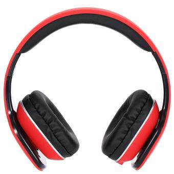 Harga JKR 111 3.5MM Plug Foldable Wired Stereo HiFi Music Headphones Headset (Red)