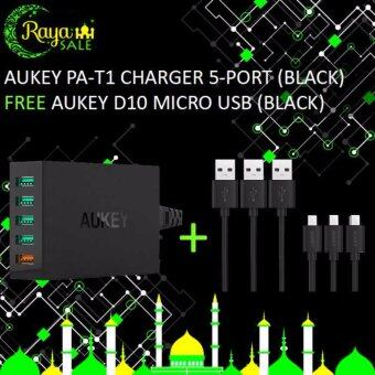 Harga Aukey 5-Port Charger + Free Aukey D10 Micro USB