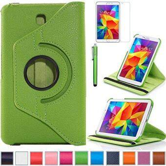 Harga Tab 4 7.0 Case, Rotating Case For Samsung Galaxy Tab 4 7.0 SM-T230,SM-T231, SM-T230NU PC,7-Inch PU Leather Case [Bonus Stylus+Screen Protector] -Green