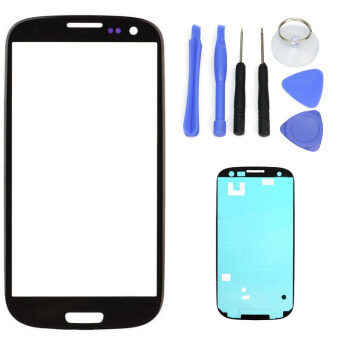 Harga For Samsung Galaxy S3 SIII I9300 I9305 Black LCD Front Touch Screen Glass Outer Lens 4.8'' +Tools+Adhesive