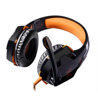 Harga EACH G2000 LED Stereo HIFI Adjustable Noise-resistant Gaming Headset (Orange)