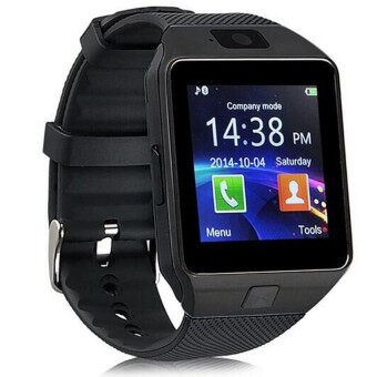 Harga DZ09 Smart Watch For Android And iOS(Full Black)