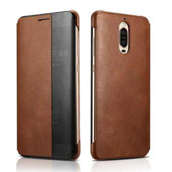 Harga XOOMZ for Huawei Mate 9 Pro Cover Capa Window Genuine Leather Smart Flip Case for Huawei Mate 9 Porsche Design Mate9 Pro Case