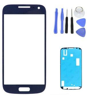 Harga Dark Blue Replacement LCD Front Touch Screen Glass Outer Lens For Samsung Galaxy S4 i9500 i9505 +Tool Kits + Sticker