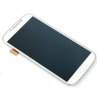 Harga LCD Display Screen Touch Digitizer +Frame For Samsung Galaxy S4 i9500(White)-