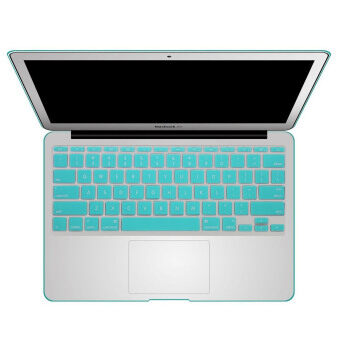 Harga Welink Fashion Silicone US Keyboard Cover Waterproof Keyboard Protector Skin For Apple Macbook Air 11 Inch (Turquoise)
