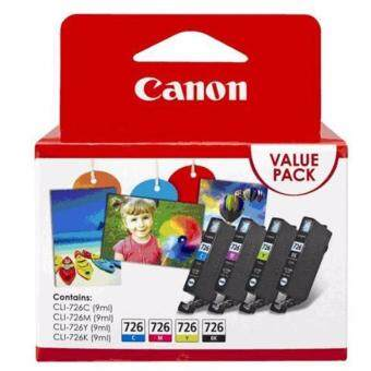 Harga Canon CLI-726 (BK/C/M/Y) Value Pack Original Ink Cartridge