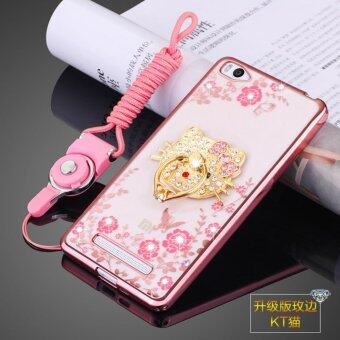 Harga Secret Garden Diamond TPU Back Cover Protection Case For Xiaomi Mi 4i / Xiaomi Mi 4C (KT Cat Rose Gold)