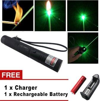 Harga High quality High Power Burning Laser 301 Military Green Laser Pointer 532nm+18650 Battery+Box+charger+safe key