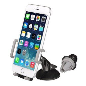 Harga Avantree 3 in 1 Grey Car Mount Holder Dashboard Air Vent Windshield for Avantree 8A 5 USB 2 AC Socket Strip Charger for Apple iPhone 7 7S Plus 6S 6 Plus SE 5S 5C 5
