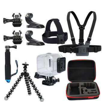 Harga Action Camera Accessories Bundle for Polaroid Cube Gopro Hero 43+321 KingMa