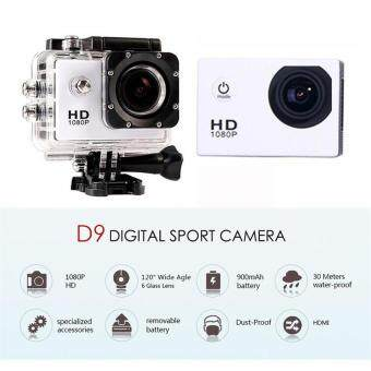 Harga Sports camera 1080P Full HD extreme DV digital action camera Diving30M waterproof cameras video photograph cameras-WHITE