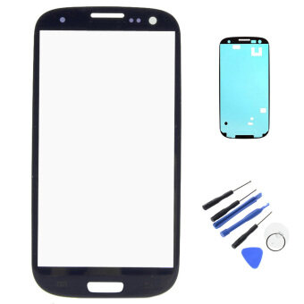 Harga New For Samsung Galaxy S3 I9300 Outer LCD Touch Screen Front Glass Lens With Bezel Frame Tape Adhesive Repair Tools