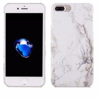 "Harga LYBALL White Print Crystal Marble Pattern Hard Case Cover for iPhone 7 Plus 5.5"" (White)"