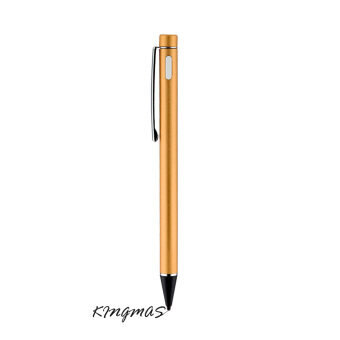 Harga High-precision 2.3mm Active Chargeable Capacitive Touch Pen Stylus for iOS Android Microsoft Tablets PAD touch screen devices-gold