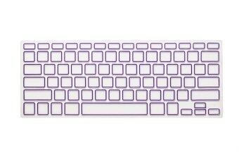 Harga HRH Candy Frame Silicone Waterproof Keyboard Protector Cover Film For Apple Macbook Pro retina 13 15 17 Air 13 inch (Purple)