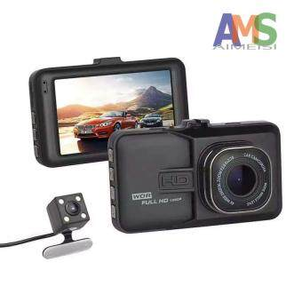 Harga AMS Full HD 1080P Dual Dash Cam Camera Hands-Free Night Vision Car Recorder DVR